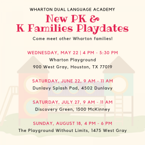 PK & K Families Playdates / Hora de Recreación para Familias @ The Playground Without Limits